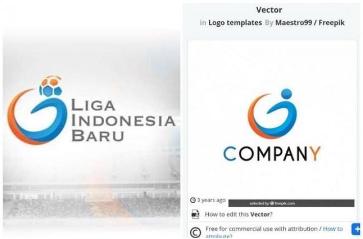 Sempat terciduk, logo PT LIB plagiat logo di freepik