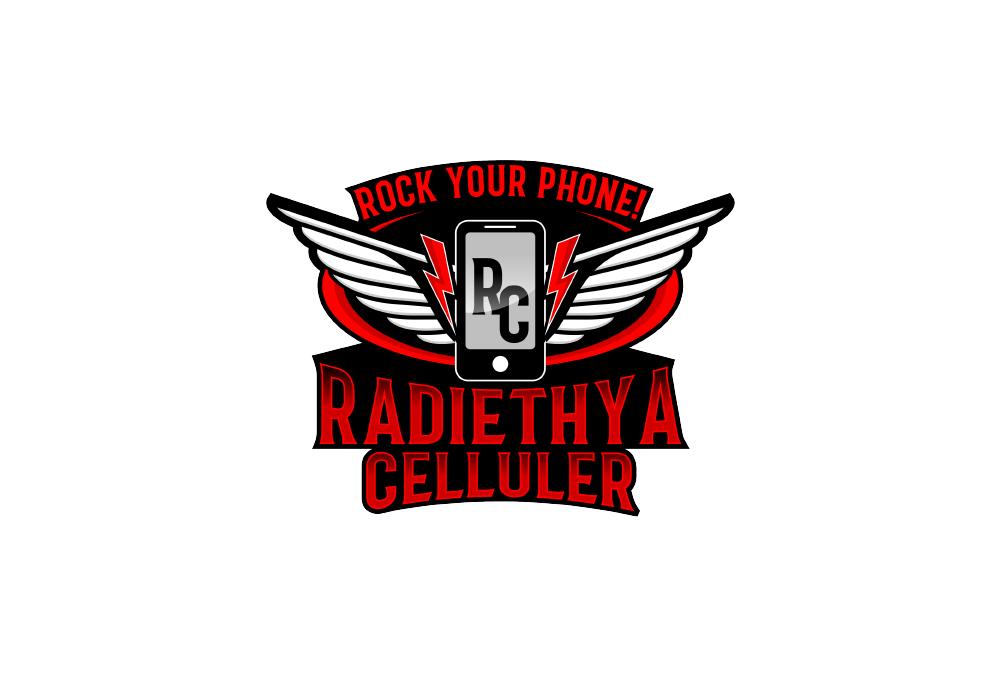 Portofolio Jasa Desain Logo penjualan hp dan aksesoris Nama RADIETHYA CELLULAR