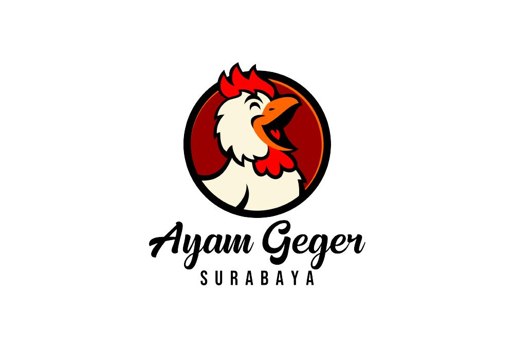 Portofolio Jasa Desain Logo Kuliner Untuk Ayam GeGer Surabaya