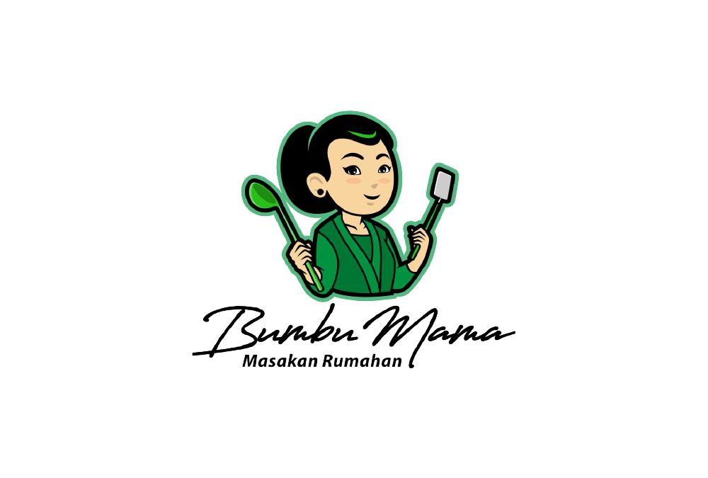 Portofolio Jasa  Desain Logo kuliner Untuk Bumbu mama