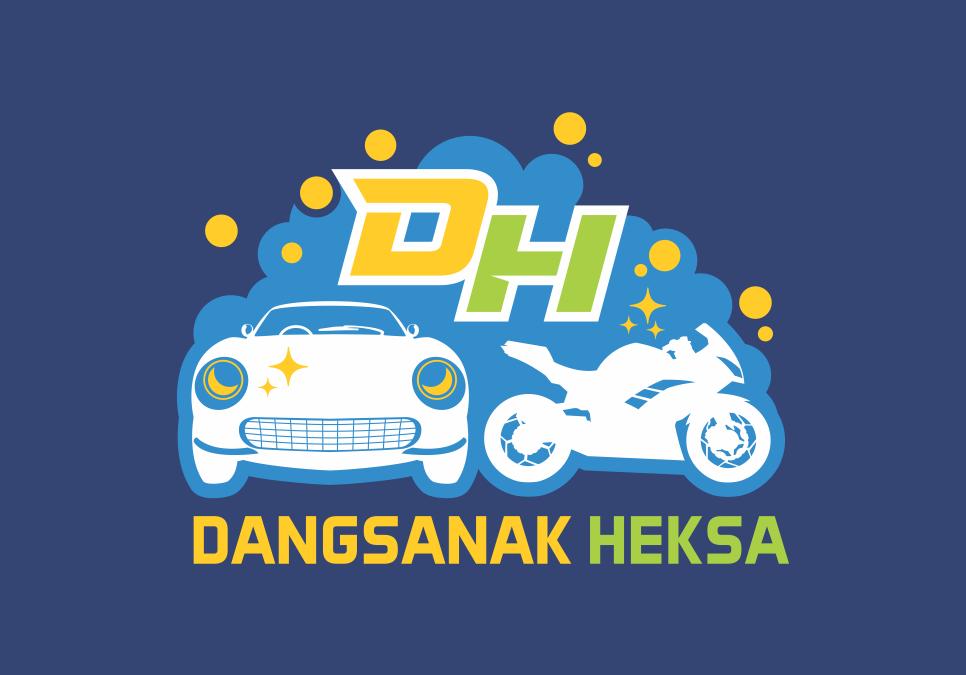 Portofolio Jasa Desain Logo cuci mobil dan motor Untuk Dangsanak Heksa