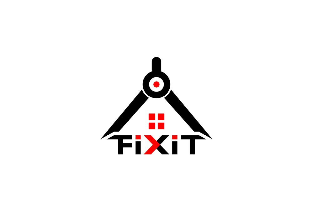Portofolio Jasa Desain Logo Jasa perencanaan, pembangunan, perawatan dan perbaikan rumah terpadu Untuk Fixit