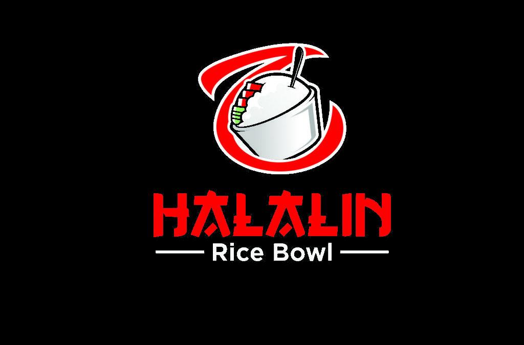 Portofolio Jasa Desain Logo kuliner, rice bowl asia untuk Halalin Rice Bowl