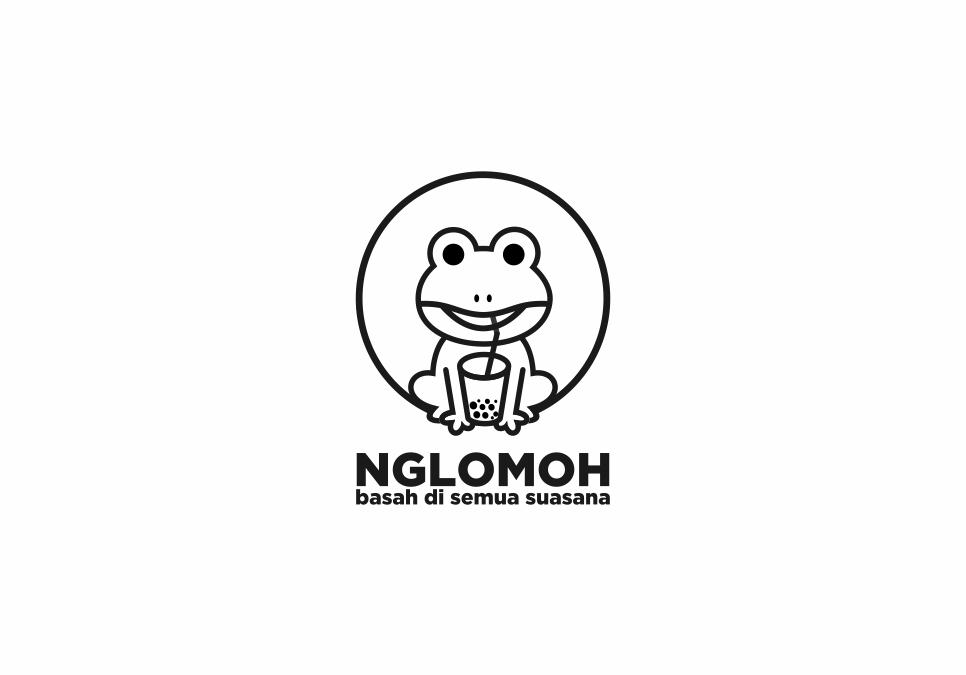 Portofolio Jasa Desain Logo minuman cheese tea and buble tea untuk NGLOMOH