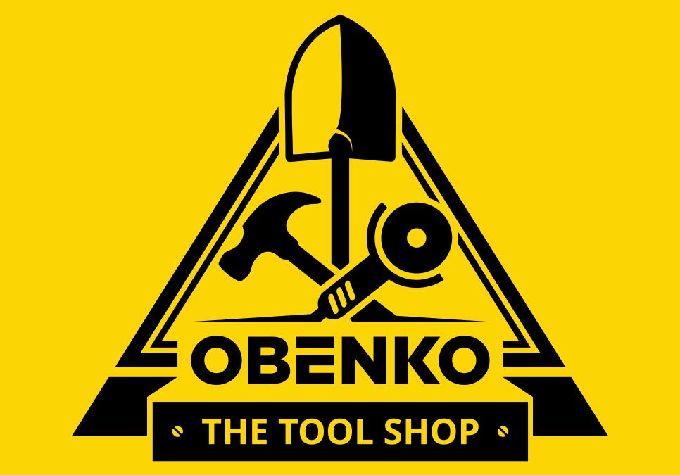 Portofolio Jasa  Desain Logo berdagang Alat Teknik, Alat Bangunan, Alat Keamanan Untuk Obenko