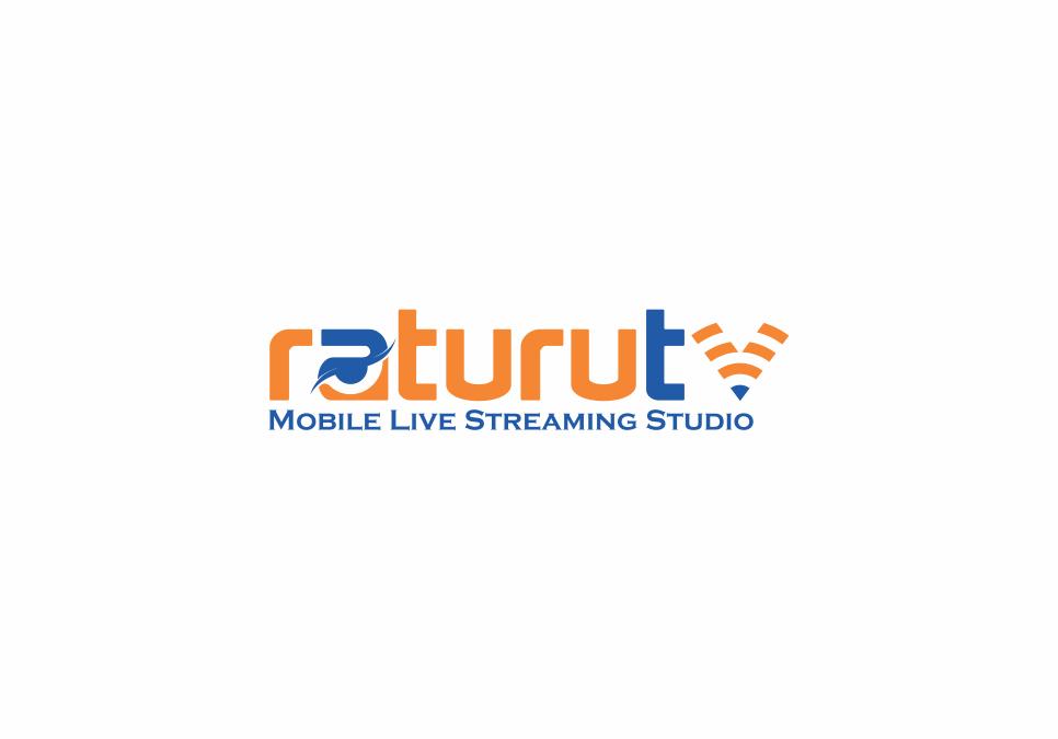 Portofolio Jasa  Desain Logo Broadcasting & Live Streaming Untuk raturutv