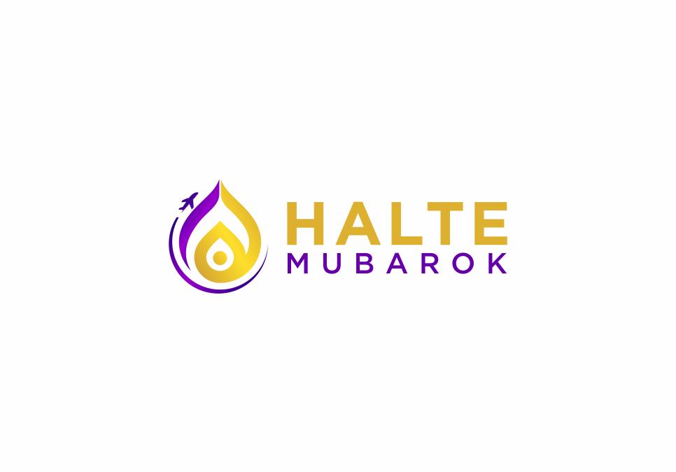 Portofolio Jasa Desain Logo Tour Travel Domestik, Internasional juga Umrah dan Haji untuk HALTE MUBAROK