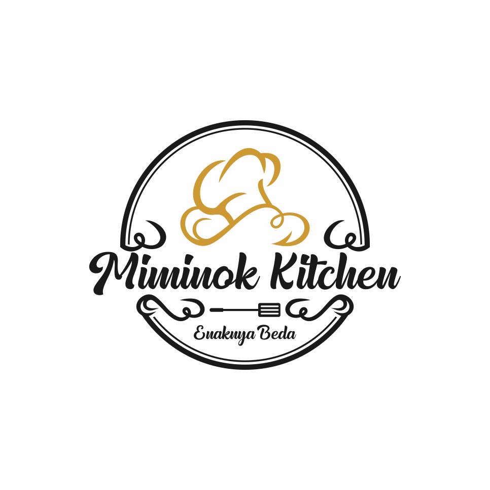 Desain Logo: Portofolio Jasa Desain Logo Makanan Untuk Miminok Kitchen