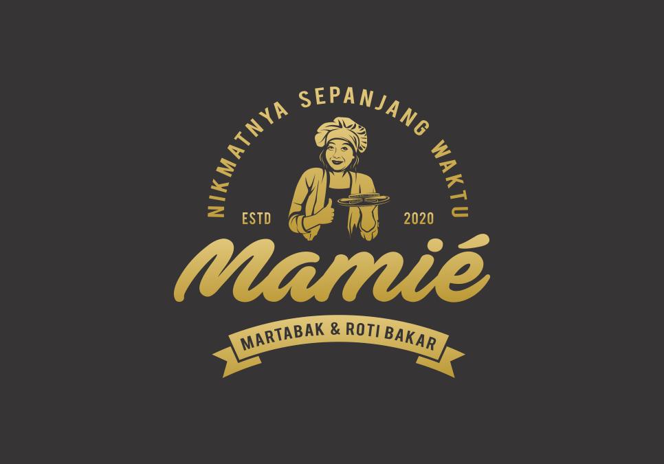 Portofolio Jasa Desain Logo makanan Untuk MARTABAK & ROTI BAKAR mamié