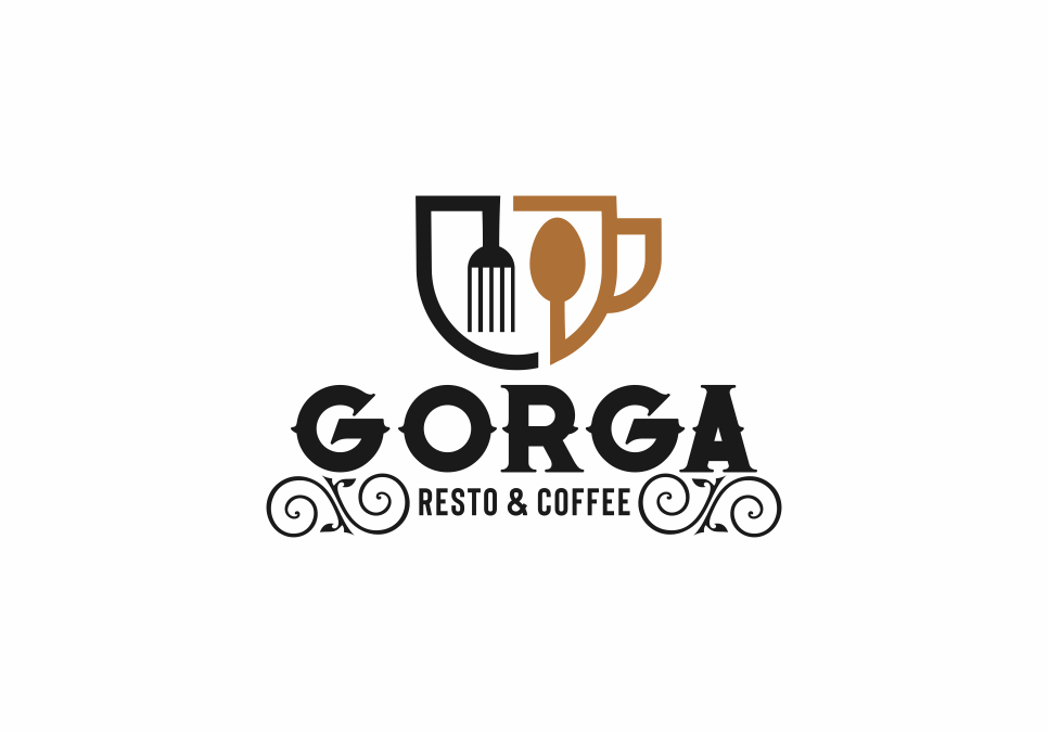 Portofolio Jasa Desain Logo makanan minuman Untuk GORGA resto &coffe