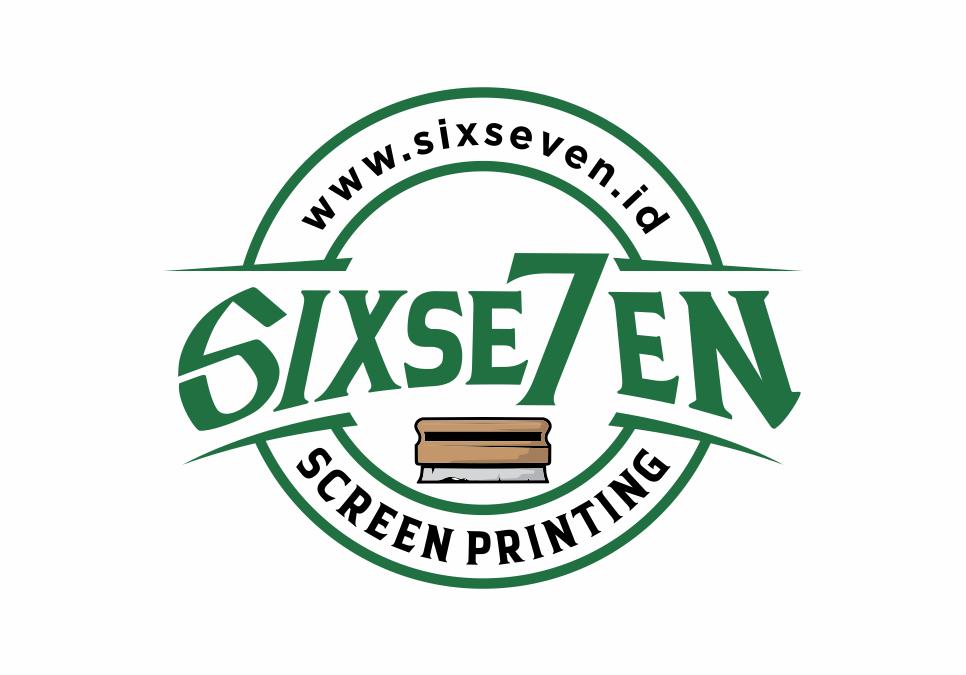 Portofolio Jasa  Desain Logo jasa sablon Untuk sixseven screen printing