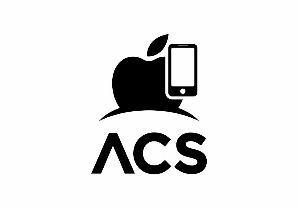 Portofolio Jasa  Desain Logo service apple Untuk ACS