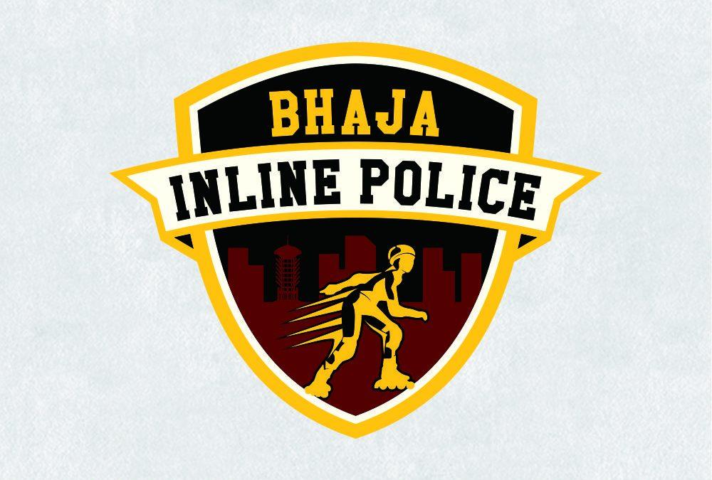 Portofolio Jasa Desain Logo KOMUNITAS IN LINE SKATE SATLANTAS POLRES CILEGON Untuk BHAJA INLINE POLICE