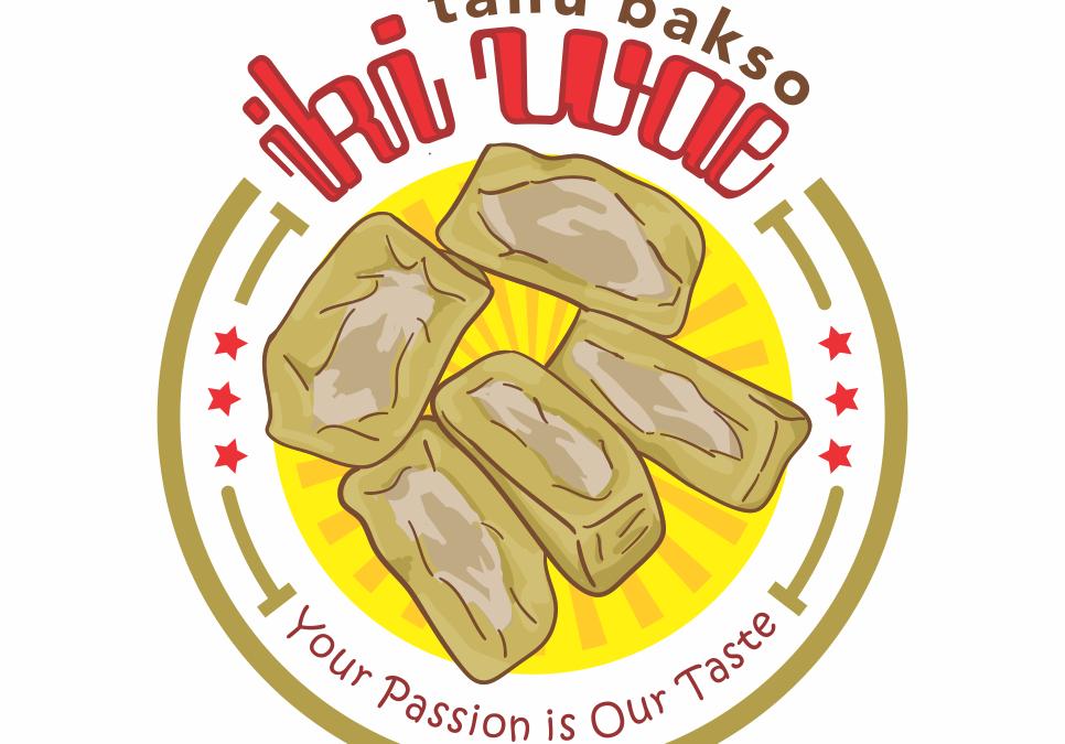 Portofolio Jasa Desain Logo Food & Beverage  Untuk Tahu Bakso Iki wae
