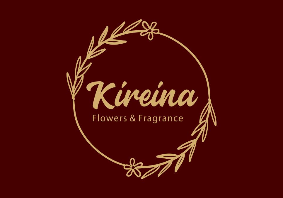 Portofolio Jasa  Desain Logo Florist, Online dan Offline Untuk Kireina Puspa Utama