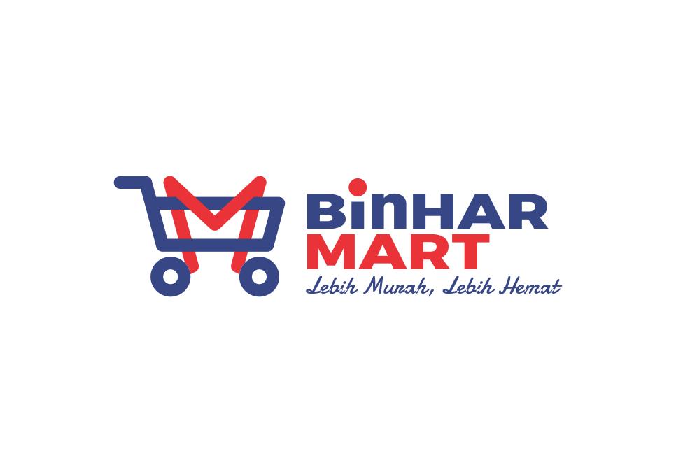 Portofolio Jasa Logo Desain  Mini Market Untuk BinHARMART