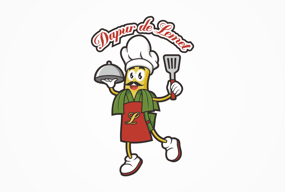 Portofolio Jasa Desain Logo kuliner  Untuk dapur de lemet