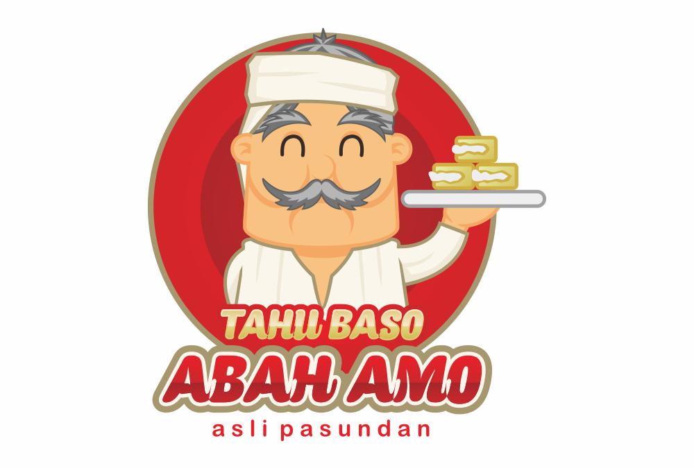 Portofolio Jasa Desain Logo Kuliner Untuk Tahu Baso Abah Amo