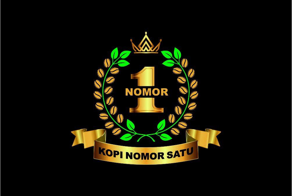 Portofolio Jasa  Desain Logo Minuman Untuk KOPI NOMOR SATU ( NUMBER ONE COFFEE )
