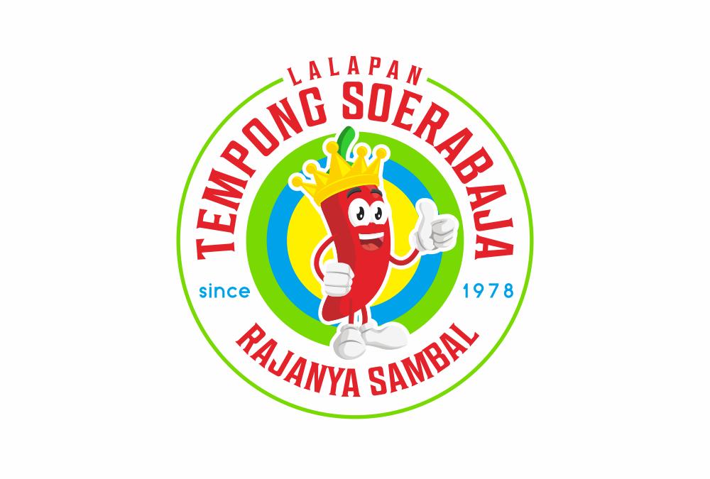 Portofolio Jasa  Desain logo kuliner untuk Lalapan TEMPONG Soerabaja, since 1978
