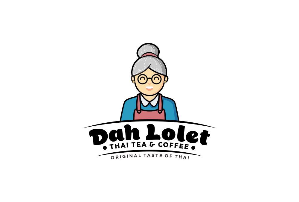 Portofolio Jasa  Desain Logo Minuman Untuk Dah Lolet Thai Tea & Coffee